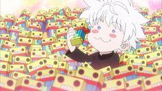 Hunter x Hunter ~ Killua eating his boxes of chocolate