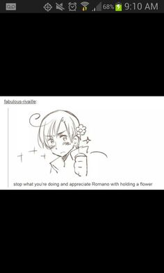 "Romano is so sweet. I like him. He hides his sweetness though. So, that's what makes people feel ""ugh, Romano..."""