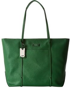 Dark Green Leather Tote Bag by Tumi. Buy for $174 from Zappos