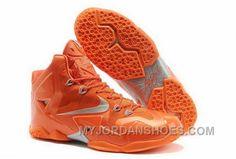 0af3fc04cfa24 820-632201 Nike Lebron 11 2013 All Orange Running Shoes Zr88T