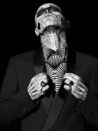 Rick Genest (Zombie Boy) neck closeup of tattoos I would never go to this extreme, but Zombie Boy looks pretty fly here. Shine on, you crazy diamond. Rick Genest, Insane Tattoos, Love Tattoos, Body Art Tattoos, Exotic Tattoos, Awesome Tattoos, Beautiful Tattoos, Sick Tattoo, Tattoo You