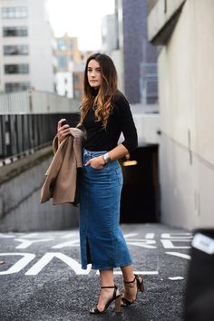 Denim. Denim skirts, jeans, and tops. A classic material that continues to be played with by designers, and even more so in recent seasons. A reader  emailed me last month with a question about how…
