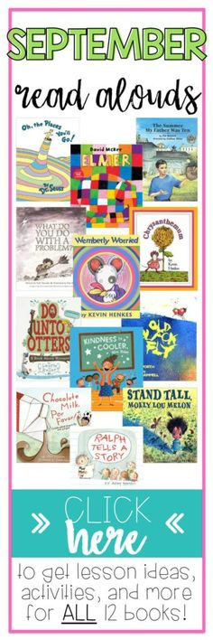 Elementary teacher needs these free back to school ideas! Read aloud books for the month of September. Free read aloud activities to strengthen vocabulary strategies!