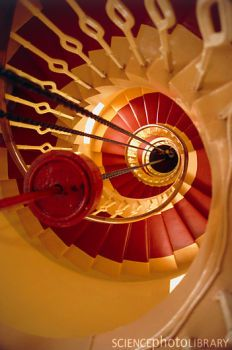 lighthouse stairs showing lantern weight