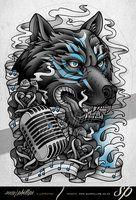 Wolf Spirit Half Sleeve Tattoo by Sam-Phillips-NZ