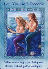 Mermaids - Protectors of the sea, mermaids are here to help inspire us to be more earth conscious. They belong to a realm of mer-spirits such as Merangels, Merfairies, Selkies and Undines. Just like fairies, mermaids are here to help protect the ocean and all of its creatures and flora. Help the mermaids by disposing of trash thoughtfully, recycling, using natural cleaning products and cleaning up your local beach. You can also call on mermaids to open your heart to prosperity and love.