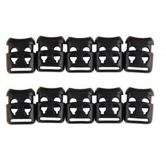 10 X Quality Shoelace Double Buckle Stopper Rope Clip Clamp Cord Lock 1st UK