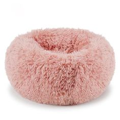 If your cat is fluffy that means you must get a fluffy cat bed to complete the marshmallow effect! Your kitty will love it's extremely comfy and looks great. Pink Dog Beds, Pet Beds, Doggie Beds, Fluffy Dogs, Fluffy Animals, Donut Cat, Donut Shape, Pink Bedding, My New Room
