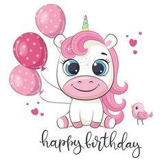 Birthday Party Clipart, Birthday Cartoon, Unicorn Birthday, Girl Birthday, Happy Birthday Baby, Unicorn Baby Shower, Cute Unicorn, Cartoon Unicorn, Happy Birthday Greetings