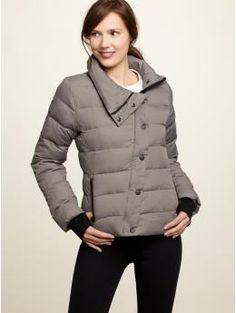 smoke gray nylon puffer jacket