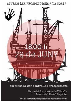Us esperem el dissabte 28 de juny a les 18.00 per a fer una cadena humana tot abraçant el mar a la platja de Sant Martí d'Empúries (davant l'Hostal Empúries)