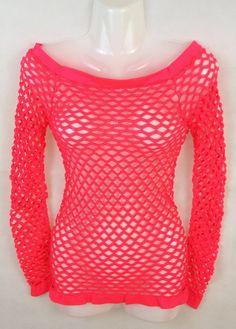 Damen Gogo Netz T-Shirt, Elasthananteil, Länge ca. 59 cm, Größe S/M, L/XL