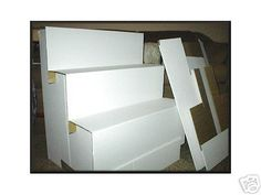 Cardboard Step Riser Display --- Folds down flat in seconds  ---   Very strong