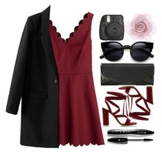 """""""red dress"""" by lindsaysarson ❤ liked on Polyvore featuring RED Valentino, J. Furmani, Gianvito Rossi, Accessorize, Lancôme, women's clothing, women, female, woman and misses"""