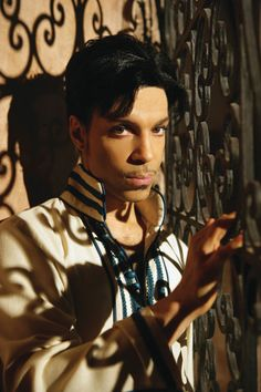 Prince - a musical genius and so lovely to look at. he is himself, a work of art.