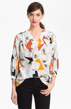 Diane von Furstenberg 'New Cahil' Silk Blouse available at Nordstrom