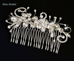 Wedding Hair Comb Bridal Hairpiece by OliniBridalJewelry Choose Your Pearl Color  www.OliniBridal.com