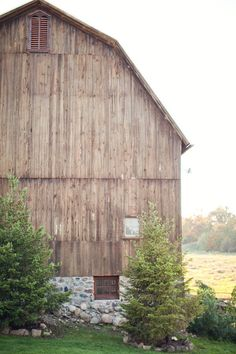 barn with stone foundation