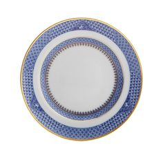 Indigo Wave Dessert Plate by Mottahedeh Riverside Drive, China Patterns, Fine China, Dinner Plates, Dinnerware, Indigo, Blue And White, Tableware, Desserts