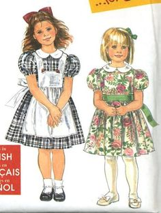 Unused Simplicity 7422 sewing pattern for Dresses w/Pinafores