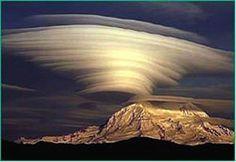 Lenticular cap clouds
