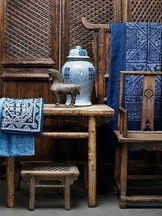 vintage Chinese wood