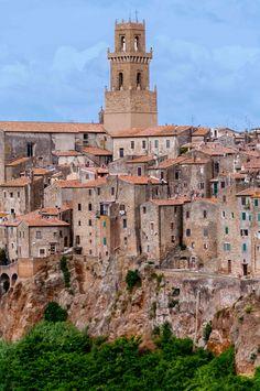 The villages of Sorano and Pitigliano - Tuscany.