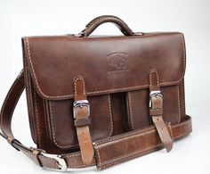 """13"""" Leather Messenger Bag  Leather Briefcase Leather Laptop Leather Satchel for Macbook Pro 173"""