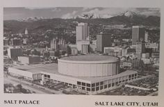 Rear view of the Salt Palace  1980
