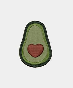 Avocado iron-on patch