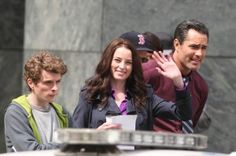 Rachel Nichols, Victor Webster, Erik Knudsen, and Stephen Lobo on the set of Continuum S4, follow link for more photos (some spoilers) - April 21, 2015