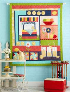 Lemonade Stand by @quiltedworks using @modafabrics.