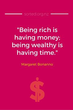 Being rich is having money, being wealthy is having time. - Plus 14 other great quotes about money