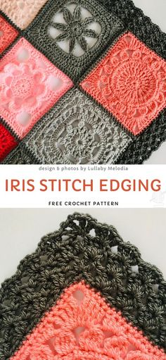 Iris Stitch Edging Free Crochet Pattern Baby Blankets with Cute Lacy Edgings. This lovely edging is going to be a perfect addition to a blanket, shawl, wrap, or any other project you have in. Crochet Simple, Cute Crochet, Crochet Crafts, Crochet Baby, Crochet Projects, Crotchet, Beautiful Crochet, Crochet Boarders, Crochet Blanket Edging