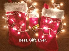 Our Christmas pregnancy announcement...a combo of pinterest ideas.