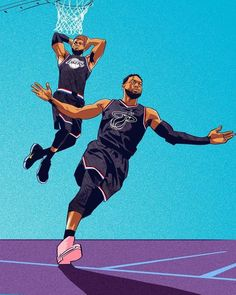 Save the last lob kingjames dwyanewade Reminiscing the miamiheat moments on the nbaallstar nba Lebron James Wallpapers, Nba Wallpapers, Nba Pictures, Basketball Pictures, Basketball Drawings, Mvp Basketball, Basketball Legends, Lob, Best Nba Players