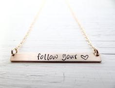 Give yourself a daily reminder with this beautiful necklace.