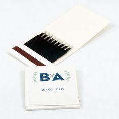 "Cajas de cerillas para Bodas modelo ""Book 1x9 Elegant"". Boda de B&A. Cards Against Humanity, Model, Match Boxes, Adhesive, Weddings"