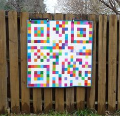 handmadewhimzy blog: A Quilty Finish - QR Bar Code Quilt