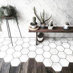 3 manieren om de hexagontegels aan je interieur toe te voegen