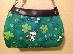 Snoopy St. Patricks Day SUITE  skirt purse by ShellyJayneCovers, $18.75