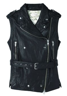 Isabel Marant Étoile Bracken Leather Vest | La Garçonne