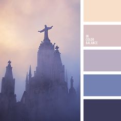Deep blue in contrast to the gray-blue looks noble and mysterious. Pastel shades of light - beige, ash-pink and gray - the impression of fragility and lightness.