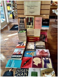 Some of our titles being showcased at Common Good Books in St. Paul as part of Small Press Month! (March)