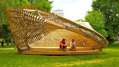 Twisted ContemPLAY Pavilion is a Complex Piece of Street Furniture Made With Local Materials in Montreal | Inhabitat - Sustainable Design Innovation, Eco Architecture, Green Building