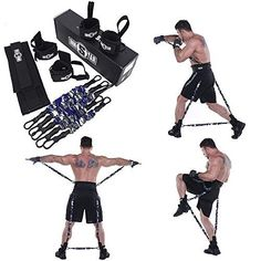 Explosive Power Strength Training Equipment Best Offer - MMA Boxing Training Resistance Band Set Enhance Explosive Power Strength Training Equipment for Mua - Strength Training Equipment, Boxing Training, No Equipment Workout, Muay Thai Training, Combat Training, Fitness Equipment, Karate, Volleyball, Basketball