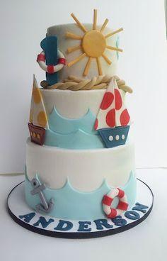Beach Theme Birthday Cakes   Beach-Themed Food / Nautical Birthday Cake