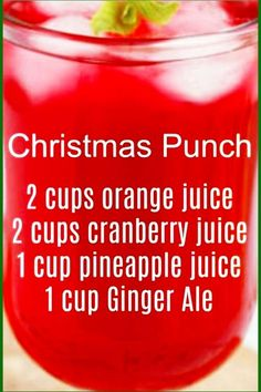 7 Easy Punch Recipes For a Crowd - Simple Party Drinks Ideas (both NonAlcoholic and With Alcohol) - Christmas Breakfast Punch For a Crowd - easy Christmas Brunch or New Years brunch punch recipes too Brunch Punch, Breakfast Punch, Brunch Drinks, Fun Drinks, Yummy Drinks, Brunch Buffet, Beverages, Morning Drinks, Cocktail Drinks