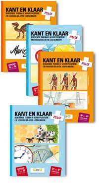 Kant en Klaar Plus : uitdagende thema's voor pientere en hoogbegaafde leerlingen. 3e en 4e leerjaar (2011). Auteurs: Danielle Verheye en Leen Brugman.