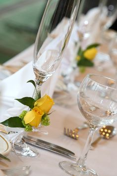 Champagne glasses #forsgate #wedding #ideas #tables